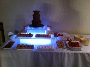 single small chocolate fountain at woodstock