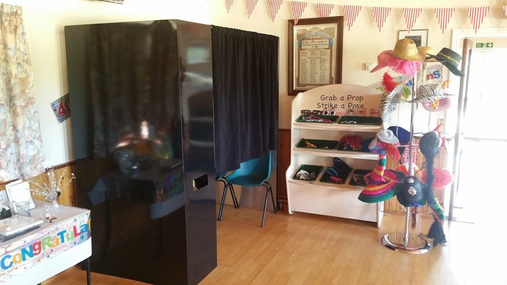 Photo booh hire at Westmarsh Village Hall