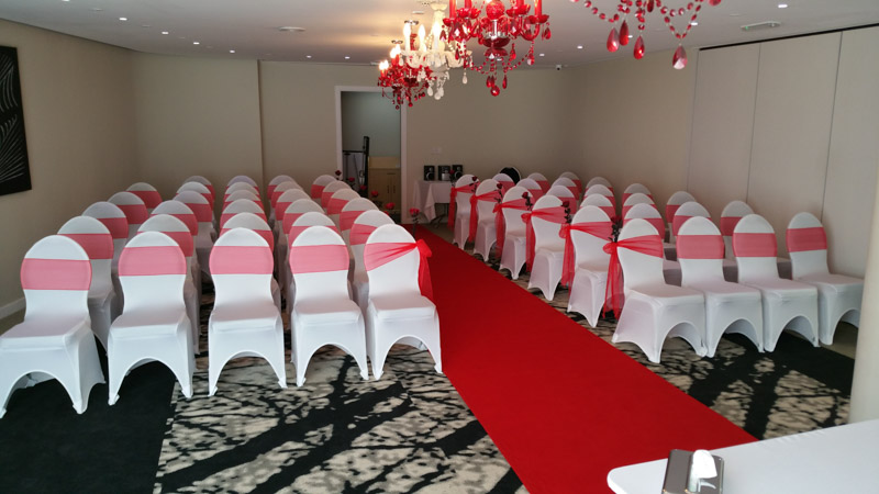 Chair cover hire The Coniston Hotel Sittingbourne