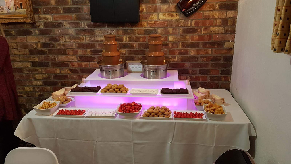 Twin Chocolate Fountains for hire in Kent