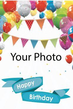 Happy Birthday Card Balloons Your photo Balloons