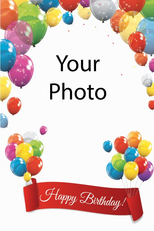 Happy Birthday Card Balloons Your photo balloons with banner