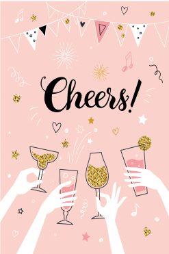Happy Birthday Card Glitz Cheers