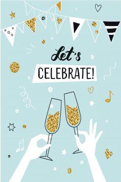 Happy Birthday Card Glitz Lets Celebrate
