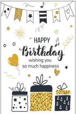 Happy Birthday Card Glitzy Presents