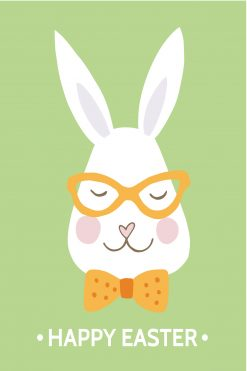 Happy Easter Card Bunny Head
