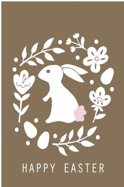 Happy Easter Card Rabbit