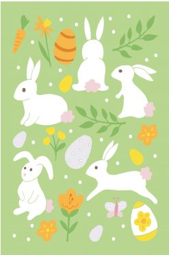 Happy Easter Card Rabbits